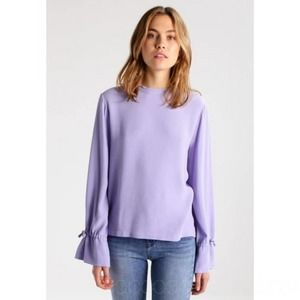 JUST FEMALE Lavender Maise Long Sleeve Blouse